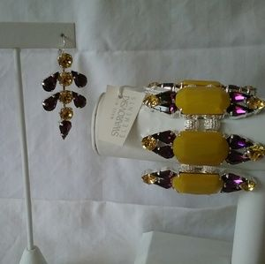 Swarovski crystal bracelet/earring set new w/tag